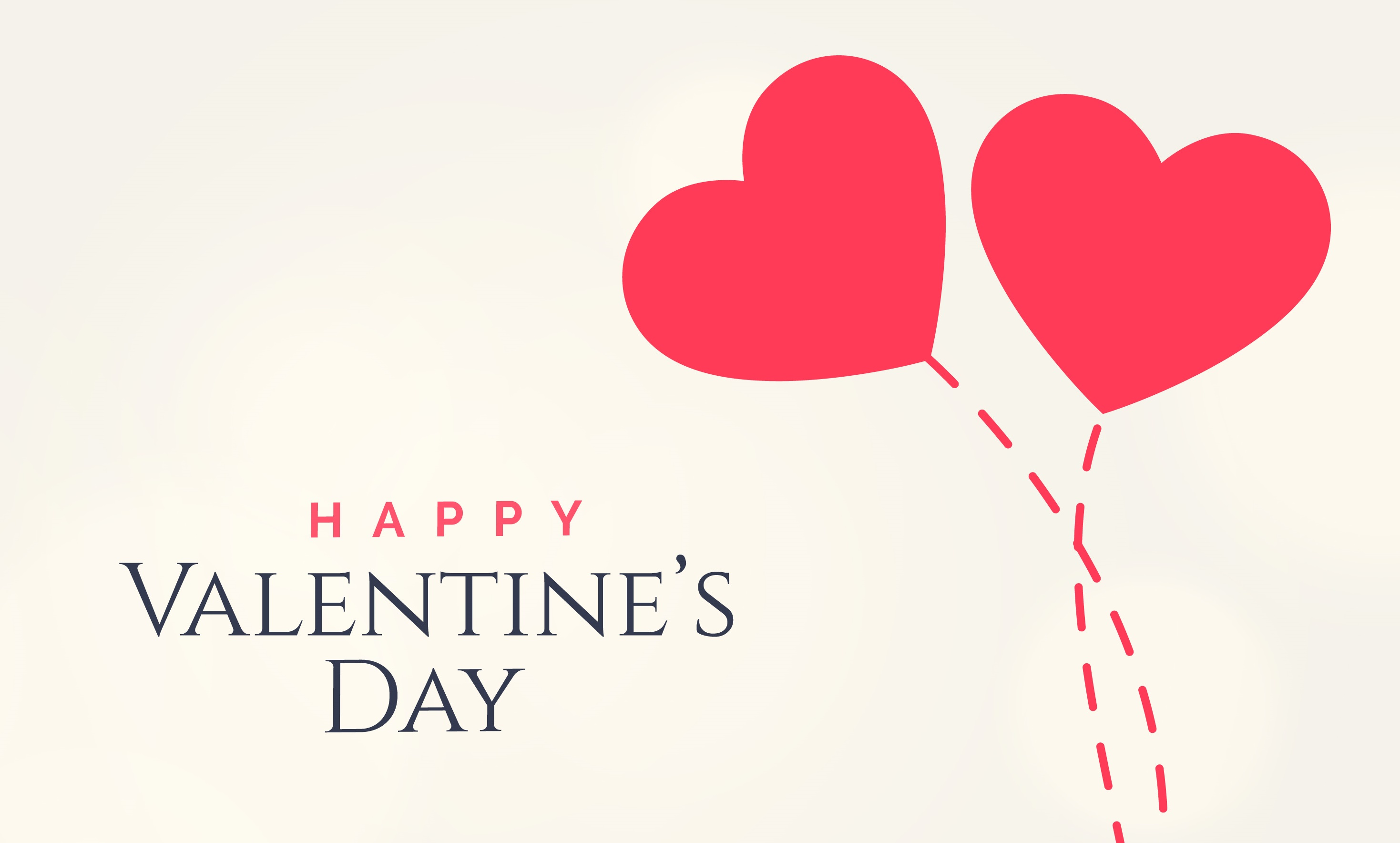 sweet valentine's day card design with two floating hearts